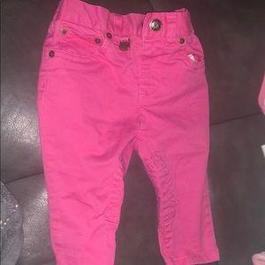Ralph Lauren Pants - Ralph Lauren pink toddler jeans. Worn once 6 mos